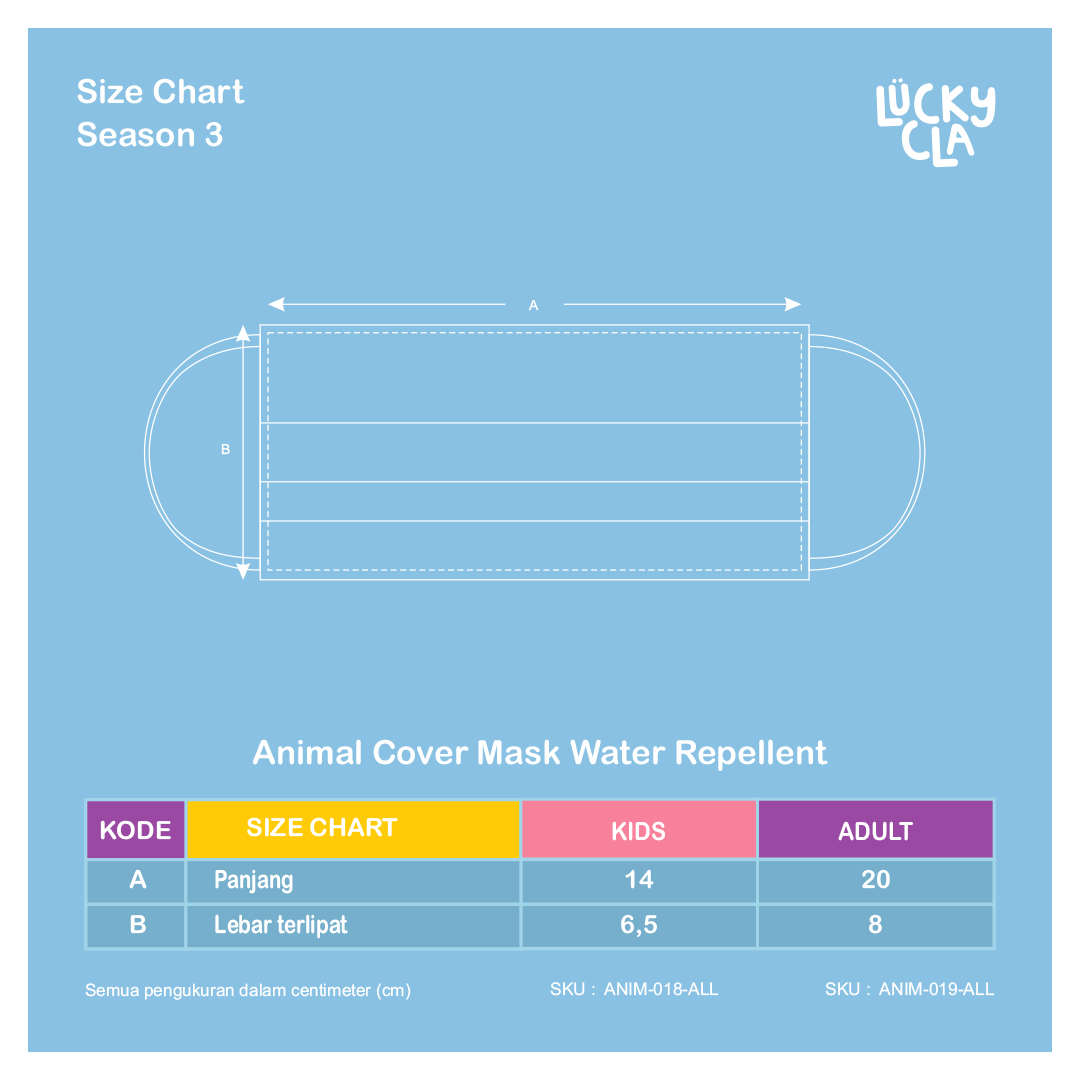 Animal Cover Mask Water Repellent